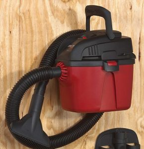 wet and dry vacuum cleaner -- wall attachment